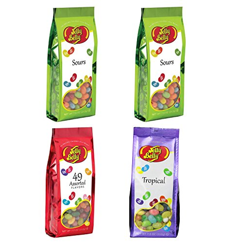 Gift Bags in Assorted Flavors - 4-7.5 oz Bags by Jelly Belly