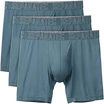 3-Pack Separatec Mens Fast-Dry Boxer Briefs