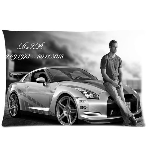 Custom Paul Walker Home decorative Pillowcase Pillow case 50,8 x 76,2 cm due lati di stampa
