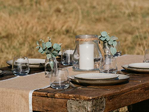 3 X Pack Burlap Table Runner - Natural Burlap Fabric Runner, Soft Ribbon Edging - 12 X 108 inch - Textured Jute Table Runners to Inspire a Rustic Relaxed Elegance for Dining, Farmhouse, Wedding - 🌿INSTANT RUSTIC SOPHISTICATION: No more boring, basic events with this perfect rustic table runner. They will warm up your festivities with a zesty energy and create a relaxed atmosphere with an earthy feel. 🌿PREMIUM DESIGN – THICK WEAVE/SEWN EDGES: Made from 100% natural fiber, the thick high density weave creates a durable and sturdy table runner. The edges are sewn with high quality soft ribbon which highlights the rich golden brown burlap fabric. The ends are finished in natural over-lock stitch making them fray-resistant. 🌿AMAZING VERSATILITY: Our burlap table runners are perfect for kitchen decor, rustic wedding decor, backdrops, centerpiece displays, dining table runner, fireplace mantels, holiday table runner, banquet tables, boho table runner, baby showers, farmhouse coffee table runner, burlap tree wrap, folded for a small table runner, family reunions, or a spacious farmhouse decor display. Let your creative juices flow - try adding flowers, garlands or candles for a focal point – relax and enjoy. - table-runners, kitchen-dining-room-table-linens, kitchen-dining-room - 51ISlRNQrxL -