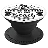 Palm Tree Pop Socket with Summer Quote - PopSockets Grip and Stand for Phones and Tablets