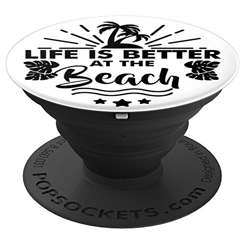 Palm Tree Pop Socket with Summer Quote - PopSockets Grip and Stand for Phones and Tablets by NipoCutie