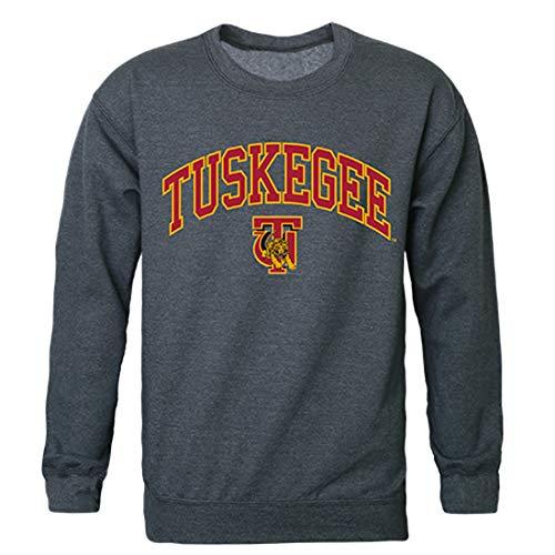 Tuskegee Golden University Tigers NCAA Men's Campus Crewneck Fleece Sweatshirt - Heather Charcoal, XX-Large