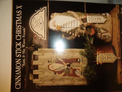 Santa Homespun - Cinnamon Stick Christmas X Santa and His Winter Friends Cross Sttich