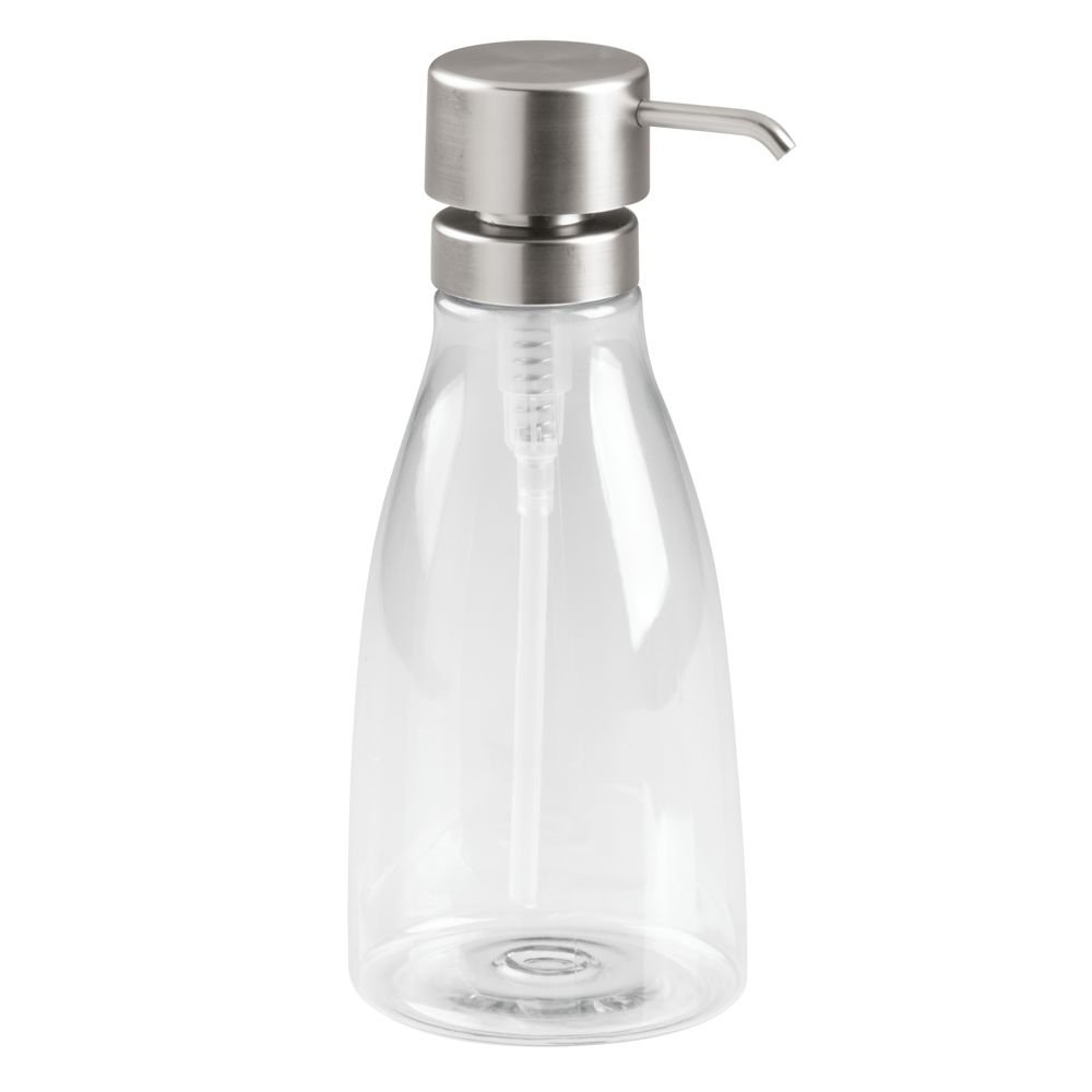 InterDesign 48570 Hamilton Soap Dispenser Pump, Large, 34 oz, Clear/Brushed Nickel