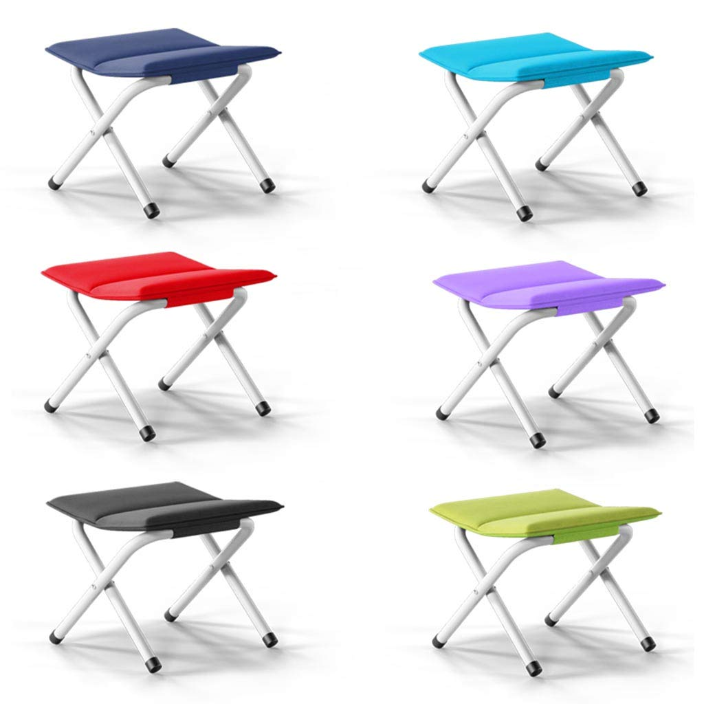 Quickly-Fold Chair Oxford Cloth,Blue LTOOTA Portable Folding Stool,Slacker Chair Outdoor Folding Chair for Camping,Fishing,Travel,Hiking,Garden,Beach