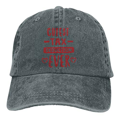 Cutest Tax Deduction Ever Retro Adjustable Cowboy Denim Hat Unisex Hip Hop Deep Heather Baseball -