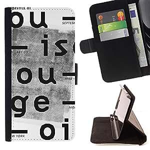 BullDog Case - FOR/LG OPTIMUS L90 / - / NEWSPAPER VINTAGE TYPEWRITER WHITE /- Monedero de cuero de la PU Llevar cubierta de la caja con el ID Credit Card Slots Flip funda de cuer