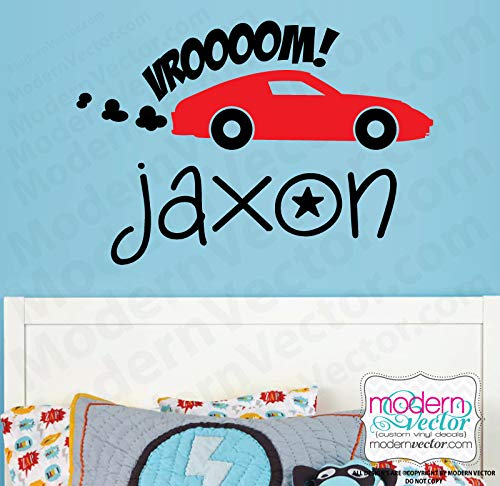 Personalized Car Sports Car Vroom! Name Vinyl Wall Decal ()