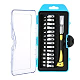 AMZVASO - Precision Engraving Craft Knife Set Wood Carving Pen Tools with 14 Blades and Safety Cap for Cut Carving Trimming Durable