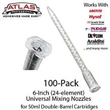 Large Mixing Nozzles-Tips for 50ml Cartridges (6-inch 24-element Static Mixers) (100)