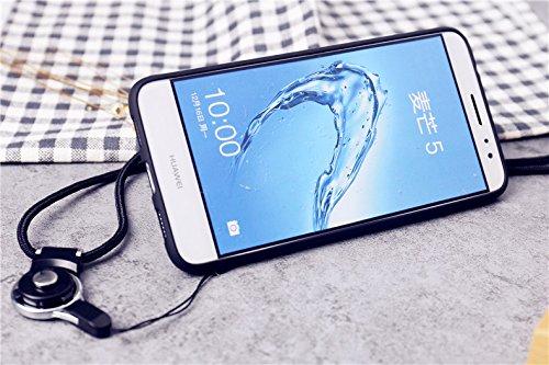 Étuis De Téléphone Couvre Boutique, Pour Nova Huawei Plus / G9 Plus / Maimang 5, Mignon De Bande Dessinée Longe Robe De Feuille Tour Eiffel Conception Étui Rigide De Protection Avec Pare-chocs Tpu Et Porte-bague Tournante À 360 Degrés (modèle