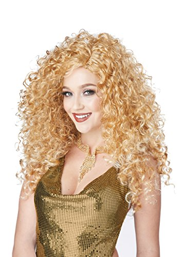 California Costumes Women's Disco Diva DO Wig, Dirty Blonde, One Size
