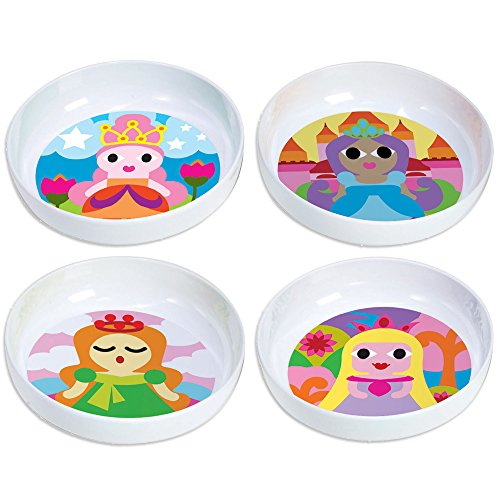 Orange French Bowl Set (French Bull - BPA Free Kids Bowls - Melamine Kids Bowl Set - Kids Dinnerware - Princess, Set of)