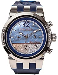 Mulco Bluemarine Infinity 2017 MW5-4721-043 Stones in Bezel Blue Silicone Band