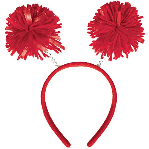 Amscan Pom Pom Headbopper, Party Accessory, Red ()