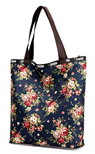 Bag Shoulder Shopping Women Tote Multifloral Bags Nawoshow resistant Water Floral Rose Handbags Satchel qx6dC8Inw