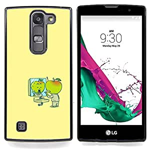"""Minimalista Cartoon amarillas Niños"""" - Metal de aluminio y de plástico duro Caja del teléfono - Negro - LG Magna / G4C / H525N H522Y H520N H502F H500F (G4 MINI,NOT FOR LG G4)"""