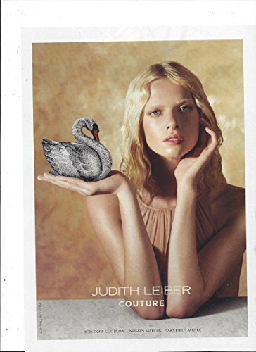 MAGAZINE ADVERTISEMENT For 2015 Judith Leiber Couture Swan Handbags