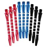 Dxhycc 3 Sets/9pcs Aluminum Darts Shafts Harrows Dart Stems Throwing Fitting Medium