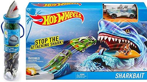 Hot Wheels Shark Creature Attack Play Set with Animal Planet Shark Head Tube - Sea Life Figures Sharkbait + Bonus - Shops Chicago State Street