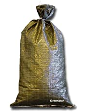Military Sand Bags Deluxe Quality – Size 14 x 26 Inch, Sandbags Woven Polypropylene, Empty Heavy Duty Sand Bags for Multipurpose Task, Military Green