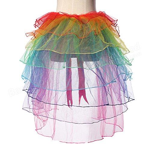 Bazaar Girls Rainbow Tutu Dress Sexy Puff Skirt Tail Party Cosplay Club Dress by Big Bazaar (Image #2)