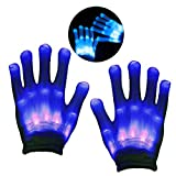 DMbaby Toys 6-11 Year Old Boy, gifts 6-12 Year Old Boy, LED Colorful Flashing Finger Lighting Rave Gloves G11