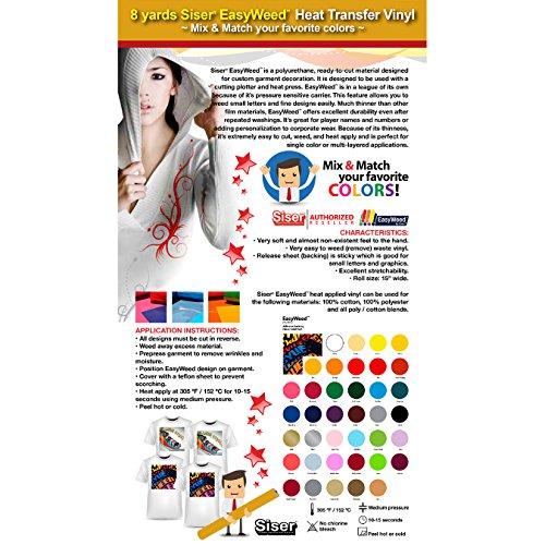 GERCUTTER Store - 8 Yards Heat Transfer Vinyl Siser EasyWeed 15
