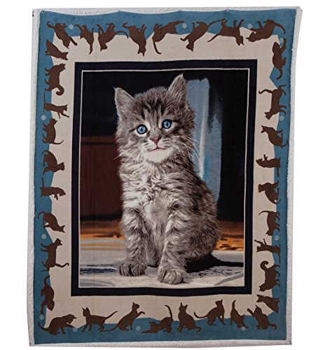 Cat Fleece Throw (Best Token Soft Warm Throw Blanket Fleece Sherpa Air Quilt Bedding for Bed, 50-by-60-Inch - Cat Pattern)