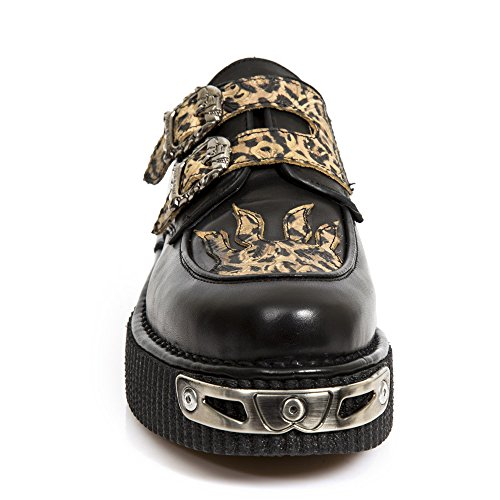 New marrone Creepers M New S1 Pelle Rock CRP2406 Scarpe Rock ROvWTq