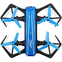 Nicerokaka JJRC H43WH Blue Foldable RC Quadcopter With Crea 720P WIFI Camera (The drone is controlled by your phones App, it not need the remote control.)