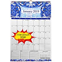 2019 Wall Calendar - 2019 calendar 17x12 inch Monthly Wall Calendar - Academic Year Wall Calendar runs from October 2018 through December 2019,Wirebound