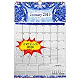 2019 Wall Calendar - 2019 calendar 17x12 inch Monthly Wall Calendar - Academic Year Wall Calendar runs from October 2018 through December 2019,Wirebound