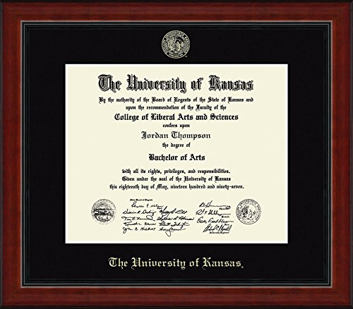 Kansas Jayhawks Diploma Frame - Black by Elite Fan Shop