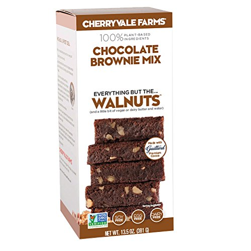 Cherryvale Farms, Chocolate Brownie Baking Mix, Everything But The Walnuts, Add Fresh Produce, Tastes Homemade, Non-GMO, Vegan, 100% Plant-Based, 13.5 oz (pack of 1)