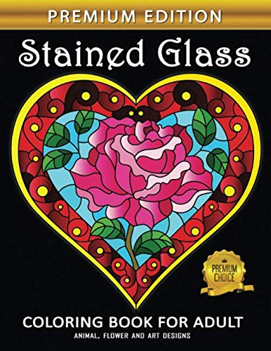 (Stained Glass Coloring Book: Adults Coloring Book Stress Relieving Unique Design of Bible )