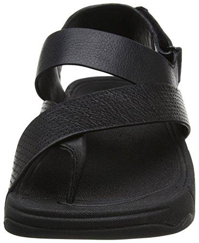 f97ec25d36d Fitflop Sling Perf Mens Leather Sandal Open-Toe (Black)