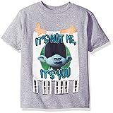 Trolls Boys' Big Boys' Call Someone Who Cares Youth Short-Sleeved T-Shirt Tearaway Label, Heather Grey, XL