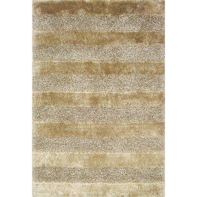 Fusion Shag Gold/Grey Rug Rug Size: 3'6