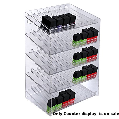 New 5-tiered Clear 40 Compartment Cosmetic Counter Display 12''W x 8.5''D x 18.5''H by Counter Display