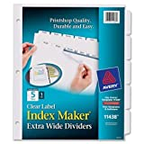 Avery Index Maker Extra-Wide Tab Divider - 5 x