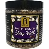 Bath Salts SLEEP WELL Organic FRENCH Sea Salt. Lavender Sleepy Time. Relaxation,Rest & Recovery.PAIN RELIEF for Muscles & Joints.Pamper Yourself.For Natural Beauty.Detox,Calm & Heal Your Mind and Body