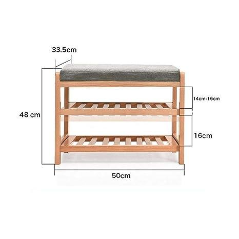 Amazon.com: YCSD - Zapatero de 2 niveles de madera maciza ...