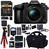 Panasonic LUMIX G85MK 4K Mirrorless Interchangeable Lens Camera Kit, 12-60mm Lens, Polaroid 64GB, 2 Spare Batteries, Charger, Bag and Accessory Bundle