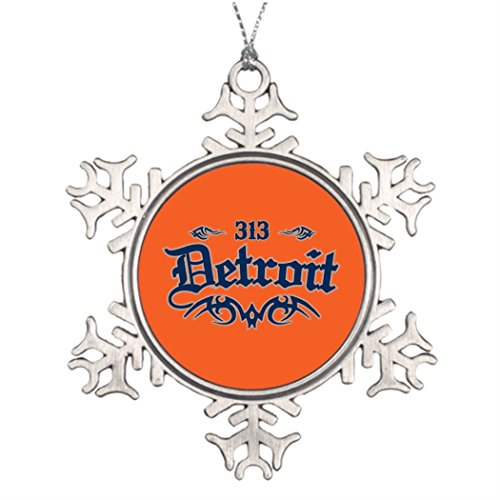 7th Gener Personalised Christmas Tree Decoration Detroit 313 Snowflake Ornaments For - Michigan City House Light