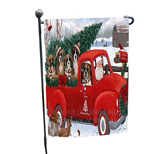 Doggie of the Day Christmas Santa Express Delivery Boxers Dog Family Garden Flag GFLG55084