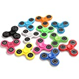 Fidget Hand Spinner 12 Pack - lo lord Hand EDC Triangle Toy Spins 3+ Minutes Wholesale Glow in the Dark (All the color 12 pack)