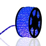 Kinbor 150FT 2 Wire LED Rope Light Home In/Outdoor Christmas Decorative Home Holiday Party Lighting Restaurant Cafe Decor (blue)