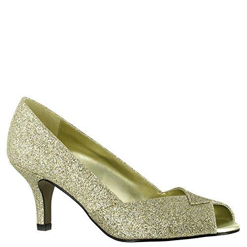 Gold Ravish glitter Easy Women's Dress Pump Street XqvHS